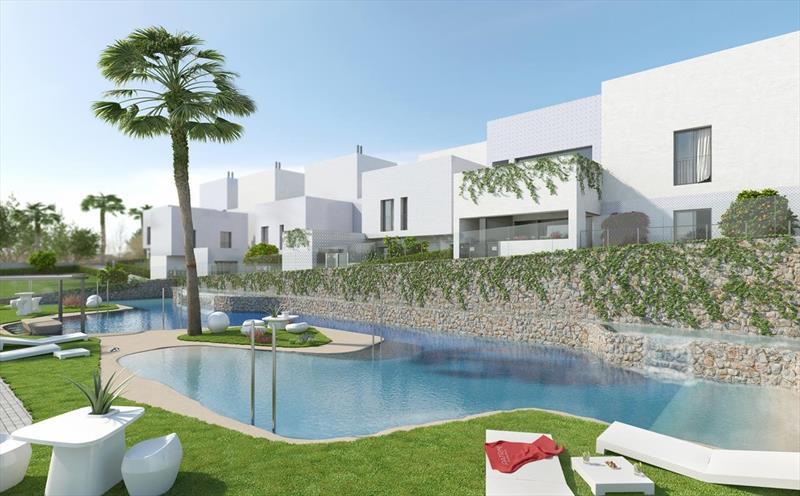te koop vakantiewoning Costa Blanca golfresort La Finca zwembad.