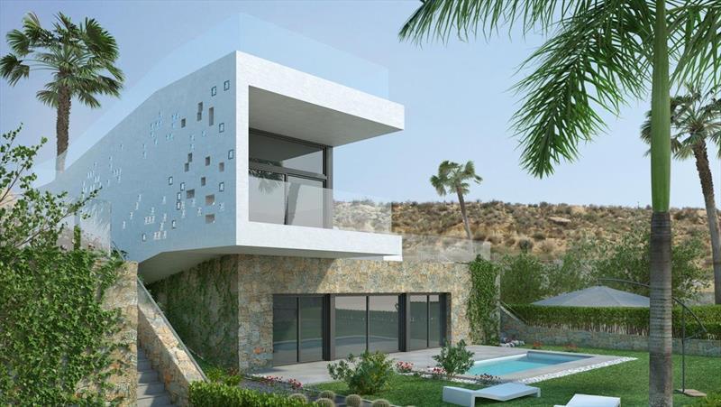 te koop villa Al Gorfa La finca Costa Blanca zuid tuin.