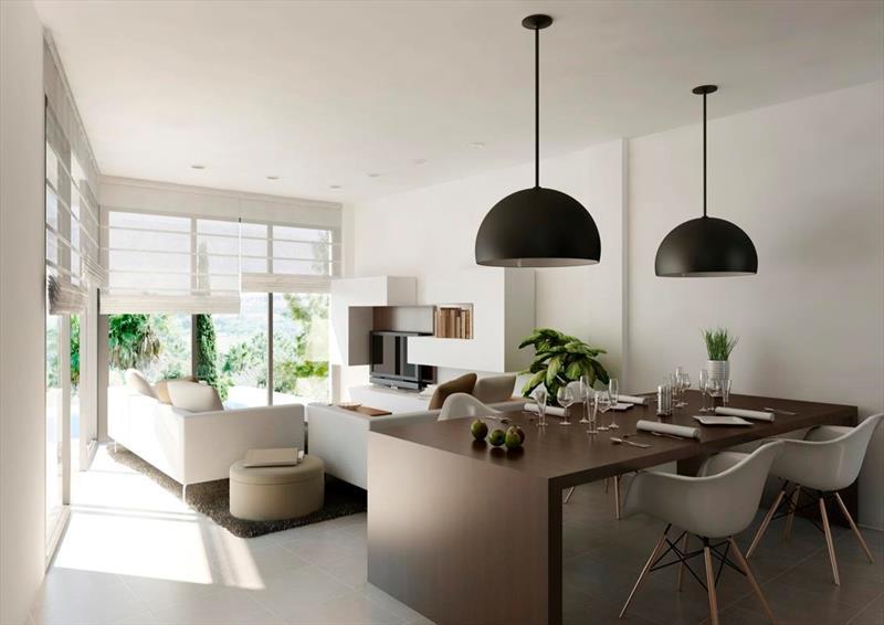 te koop vrijstaande villa Algorfa Costa Blanca Spanje zithoek.