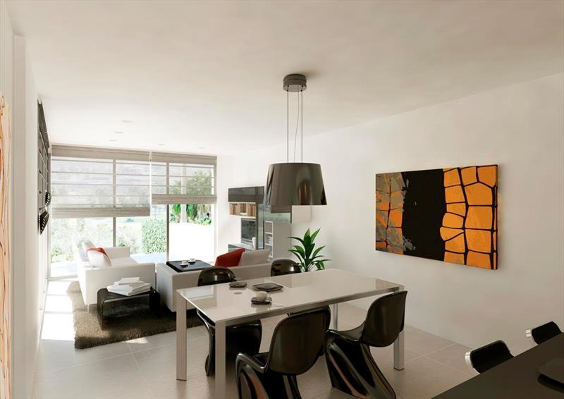 te koop vrijstaande villa Algorfa Costa Blanca Spanje woonkamer.