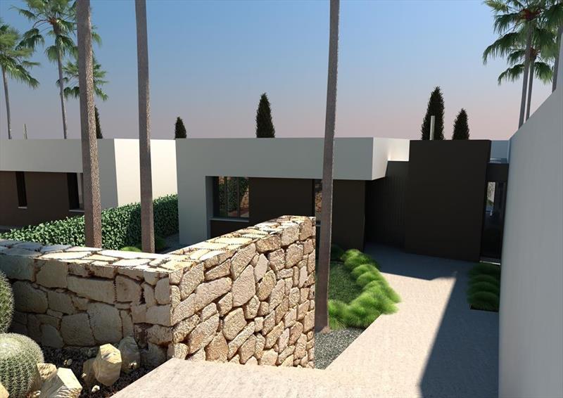 te koop vrijstaande villa Algorfa Costa Blanca Spanje entree.