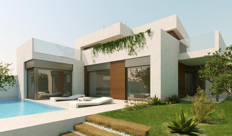 te koop vrijstaande villa Algorfa Costa Blanca Spanje front.