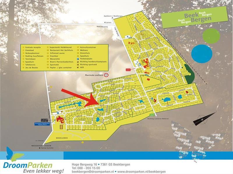 Vakantiehuis te koop Gelderland Beekbergen H.Bergweg 16K 152 Droompark Beekbergen Plattegrond van het park