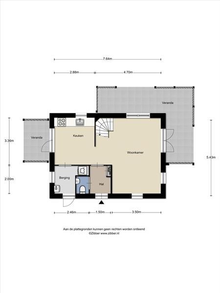 Vakantiehuis te koop Zeeland Bruinisse Groeneweg 1 K136  Plattegrond begane grond