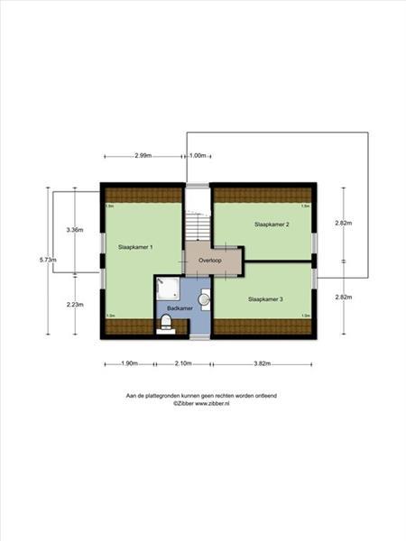 Vakantiehuis te koop Zeeland Bruinisse Groeneweg 1 K136  Plattegrond boven verdieping