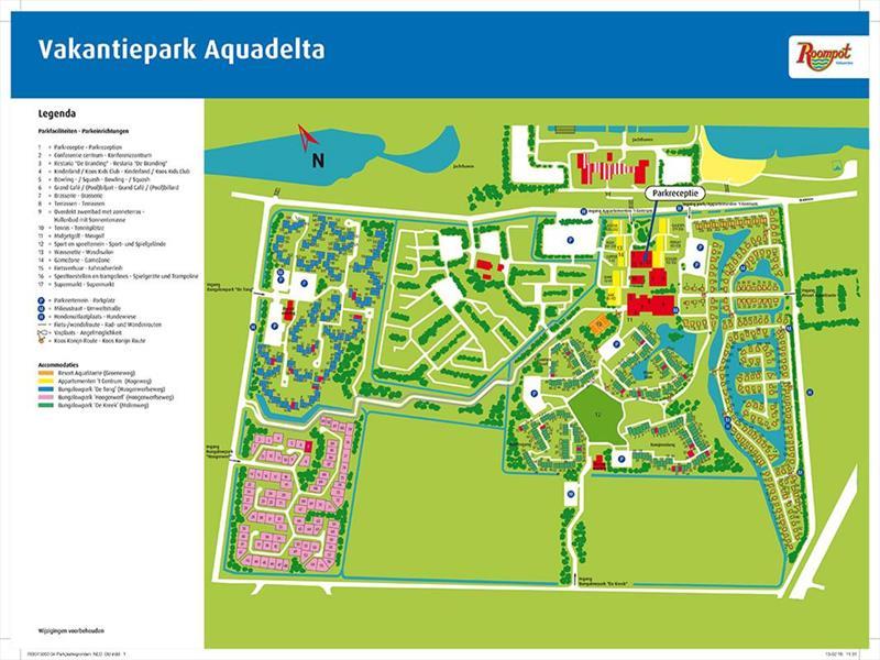 Vakantiehuis te koop Zeeland Bruinisse Groeneweg 1 K21 Park Aquadelta  Plattegrond van het park