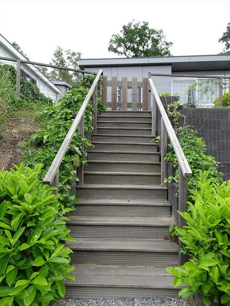 Vakantiehuis te koop Limburg Brunssum Akerstraat 153 K165 Resort Brunssummerheide Trap naar de woning