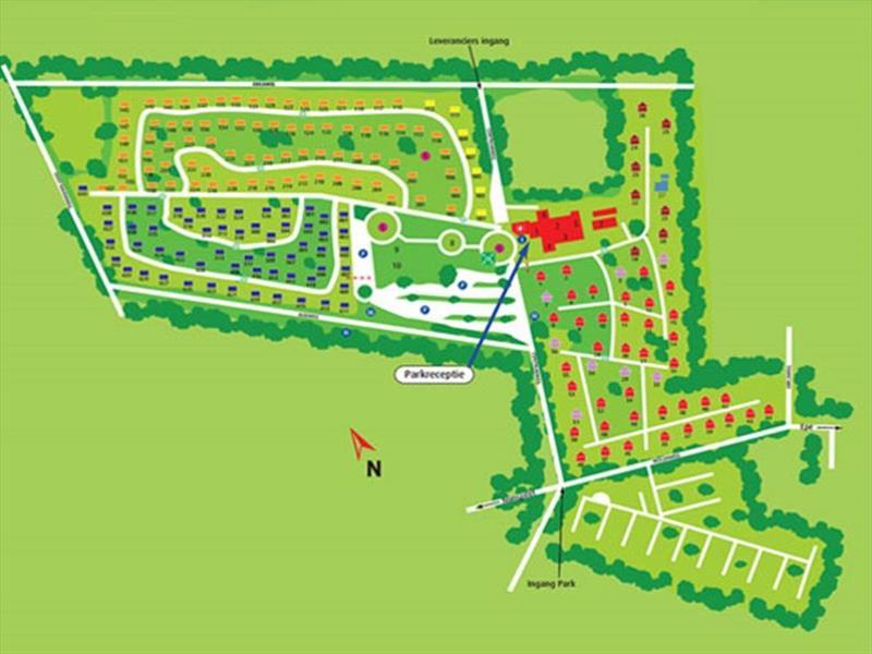Vakantiehuis te koop Gelderland Epe Centrumweg 5 K16  Bospark De Schaapskooi Plattegrond van het park
