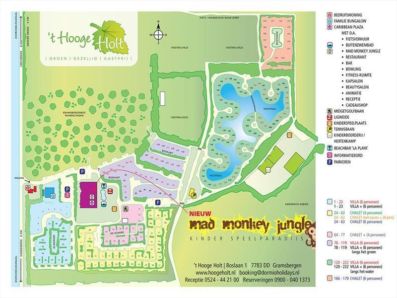 Vakantiehuis te koop Overijssel Gramsbergen Boslaan 1 Plattegrond van het park