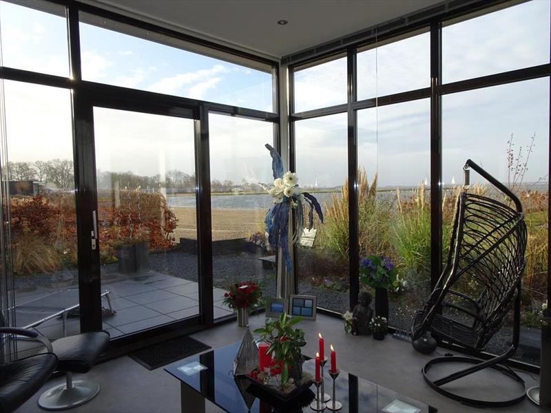 Vakantiehuis te koop in Hulshorst woonkamer met prachtig uitzicht