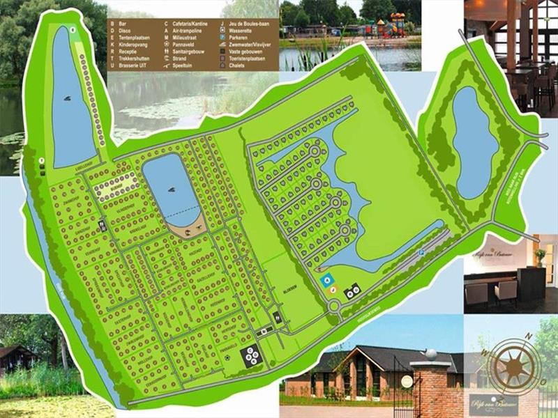Vakantiehuis te koop Gelderland Kesteren Hoge Dijkseweg 40 K81 park Rijk van Batouwe Plattegrond van het park