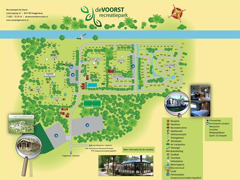 Vakantiehuis te koop Flevoland Kraggenburg Leemringweg 33 K S019 Park De Voorst Plattegrond van het park