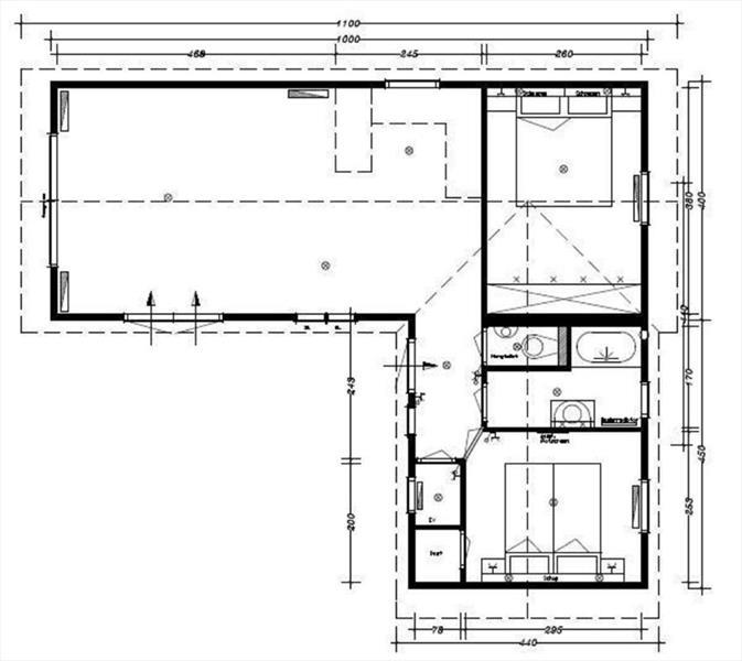 Vakantiehuis te koop Gelderland Lochem Ploegdijk 2 K312 Resort De Achterhoek Bouwtekening