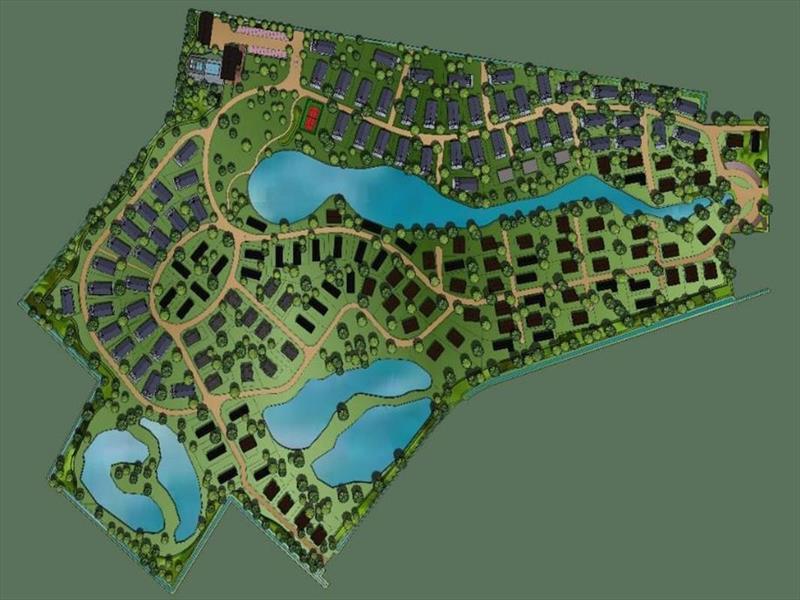 Vakantiehuis te koop Brabant Molenschot R.Kerkweg 7 K44  Park De Brabantse Weelde  Plattegrond van het park