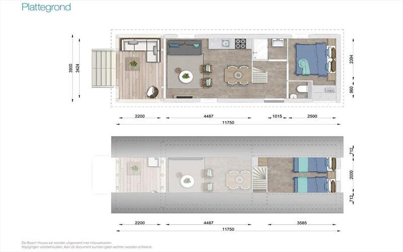Vakantiehuis te koop in Nieuwvlied- Bad Zeeland indeling