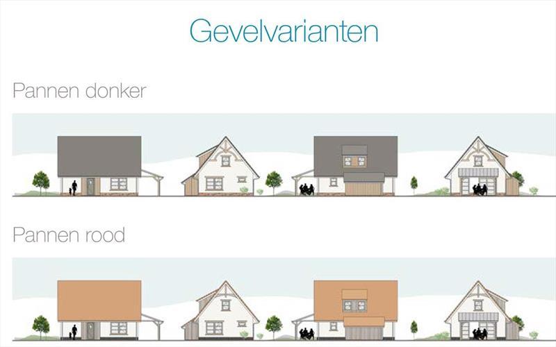 Vakantiehuis te koop Nieuwvliet-Bad in Zeeland aan het strand gevel met keuze donkere-of rode dakpannen