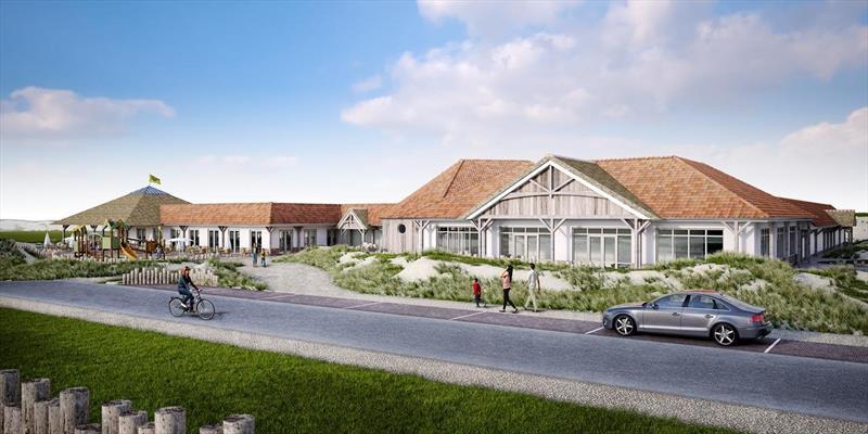 Vakantiehuis te koop Nieuwvliet-Bad in Zeeland aan het strand hoofdgebouw