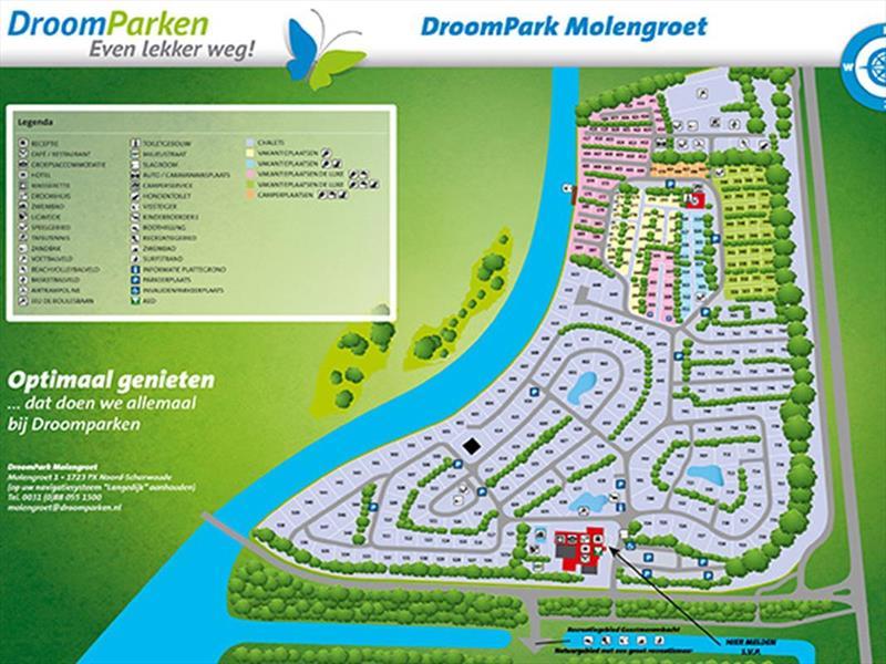 Vakantiehuis te koop Noord-Holland Noord-Scharwoude Molengroet 1 D754 Recreatiepark Molengroet  Parkeerplaats