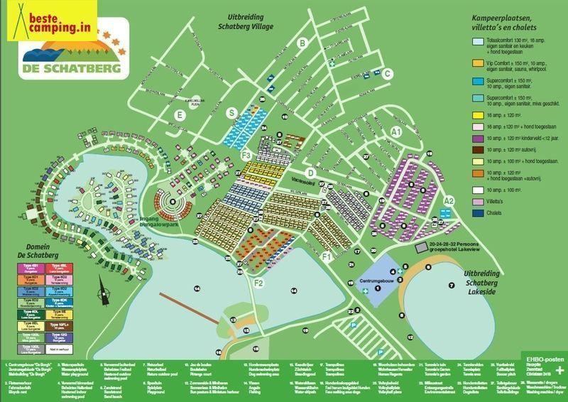 Vakantiehuis te koop Limburg Sevenum Domein De Schatberg Plattegrond van het park