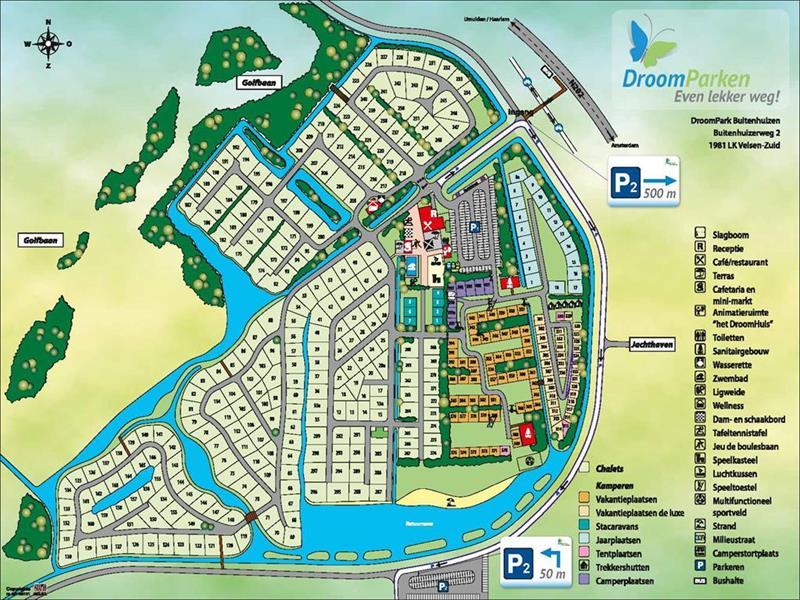 Vakantiehuis te koop N.Holland Velsen Zuid Buitenhuizerweg 2 K263 Droompark Buitenhuizen  Luchtfoto