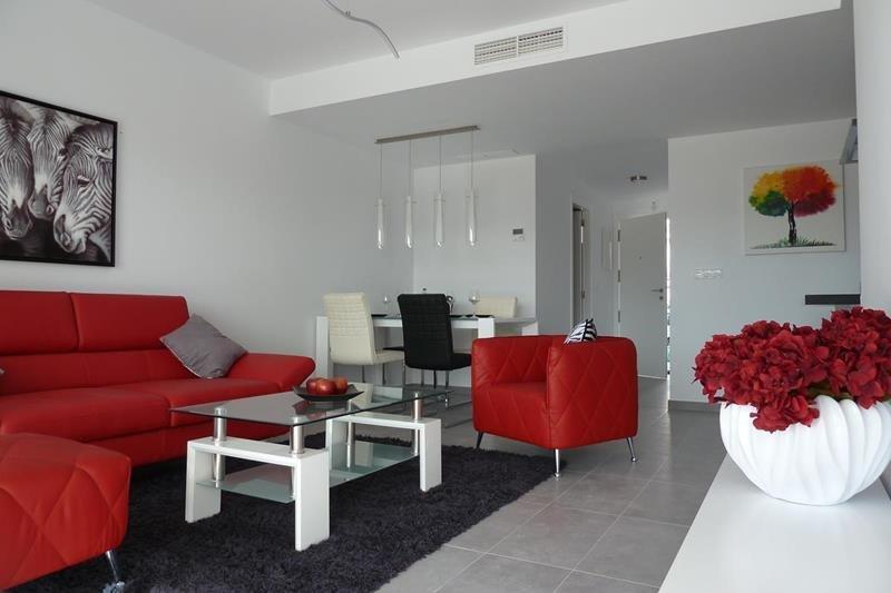 Appartement te koop Costa Blanca Spanje zithoek.