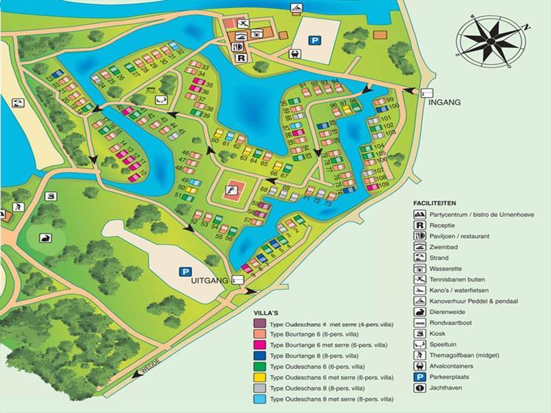 Vakantiehuis te koop Groningen Wedde Paviljoenweg 2 Luchtfoto van het park
