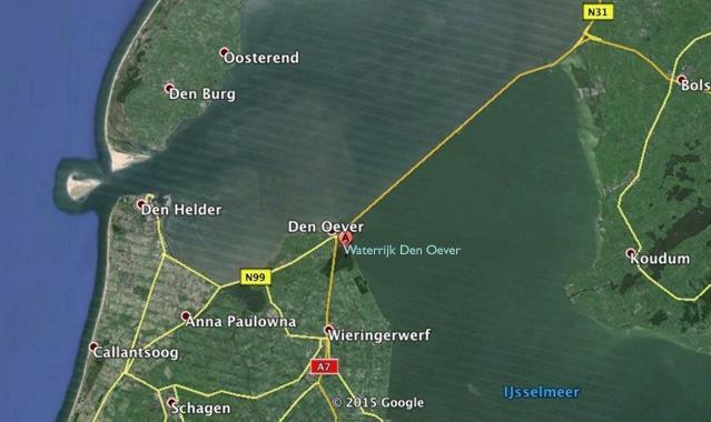 Vakantiehuis te koop N.Holland Wieringerwerf park den Oever Kaart