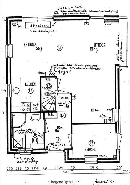 Vakantiehuis te koop Gelderland Wijchen Wighenerhorst 103 Bouwtekening